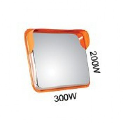 Outdoor Rectangular Stainless Steel Convex Mirror 2030 Model